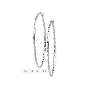 14kw Twisted Hoop Earrings