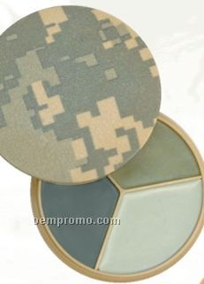 Gi Type 3-color Army Digital Camouflage Face Paint Compact With Mirror