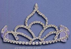 "Fan Tiara W/ Pointed Top (3 3/8"" High)"