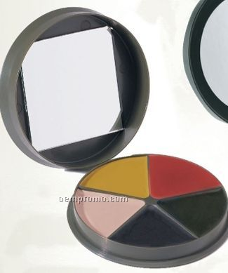Gi Type 5-color Camouflage Face Paint Compact With Mirror