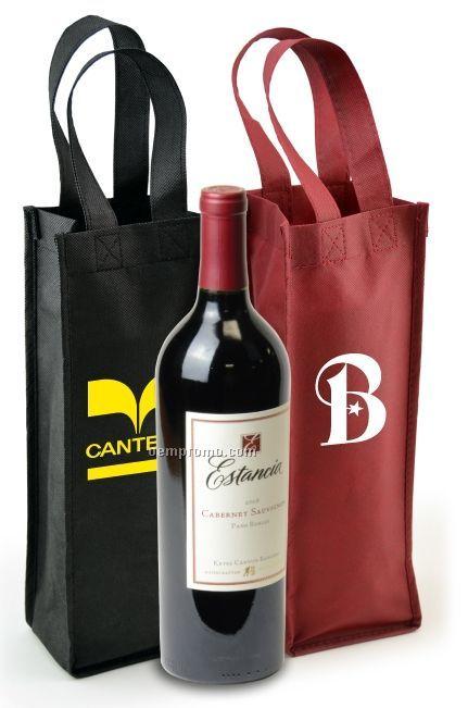 "Non Woven Wine Bottle Bag (4.5""X3.5""X13.5"")"
