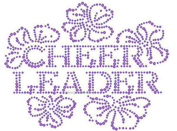 Cheerleader Floral Rhinestone Transfer