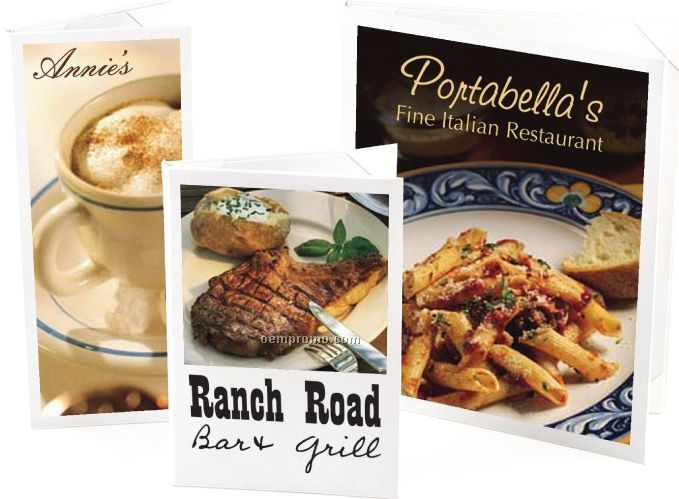 """Majestic Full Color Menu Cover - Two View/Book Style (4 1/4""""X11"""")"""