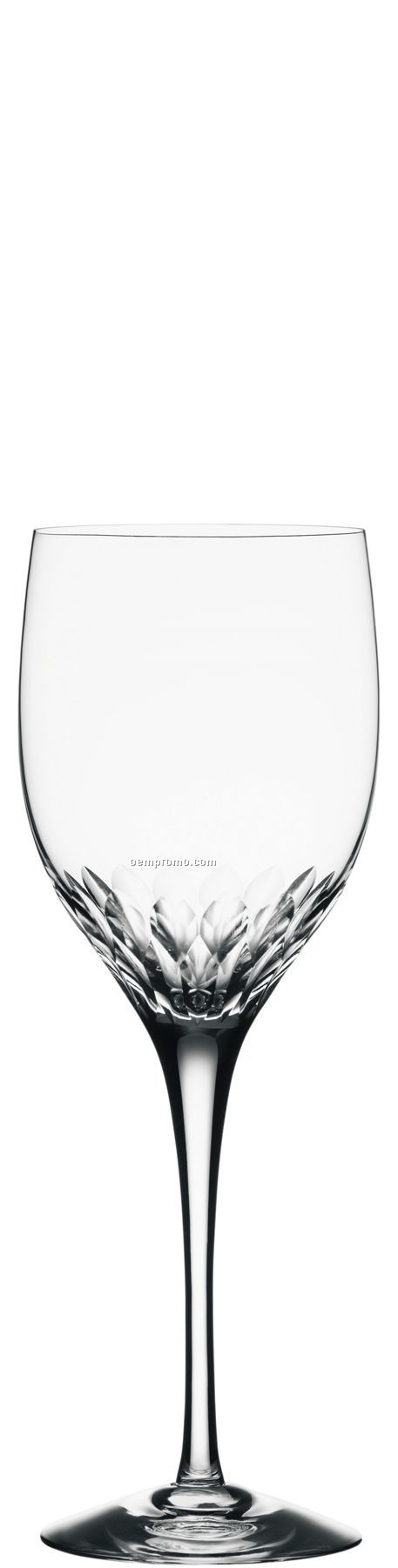 Prelude Crystal Claret Glass W/ Leaf Pattern