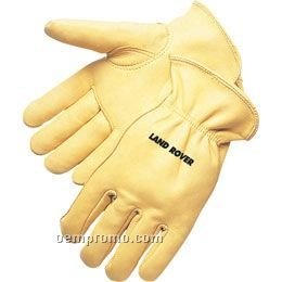 Quality Golden Grain Deerskin Driver Glove (S-xl)