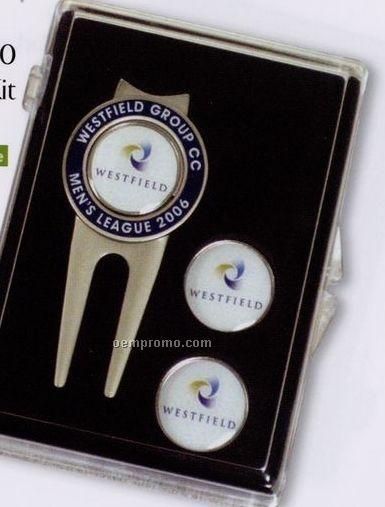 Spectrum Kit W/ Laser Cloisonne Border Repair Tool & 3 Ball Markers