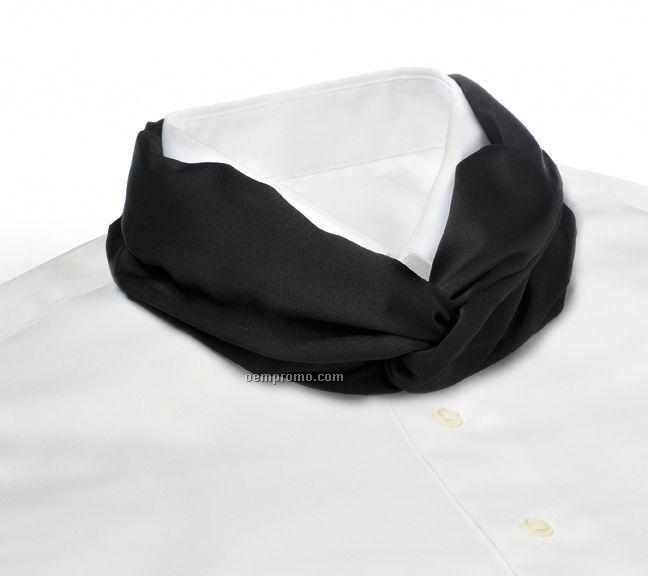 Wolfmark Solid Series Polyester Satin Velcro Band Knot Scarf - Black