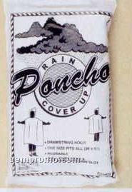 """36""""X51"""" White Vinyl Rain Poncho - Great Smoky Mountain"""