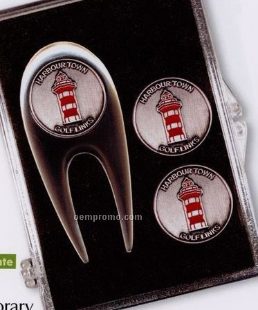 Contemporary Kit W/ Divot Repair Tool & 3 Ball Markers