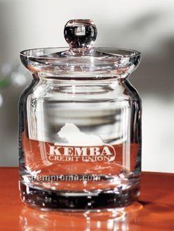 Lead Free Crystal Mayfair Candy Jar (Light Etch)