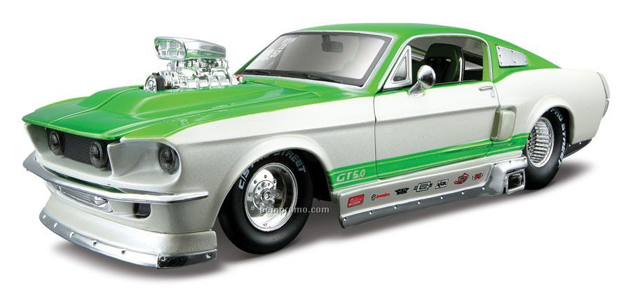 "7""X2-1/2""X3"" 1967 Ford Mustang Gt All Star Series Die Cast Replica"