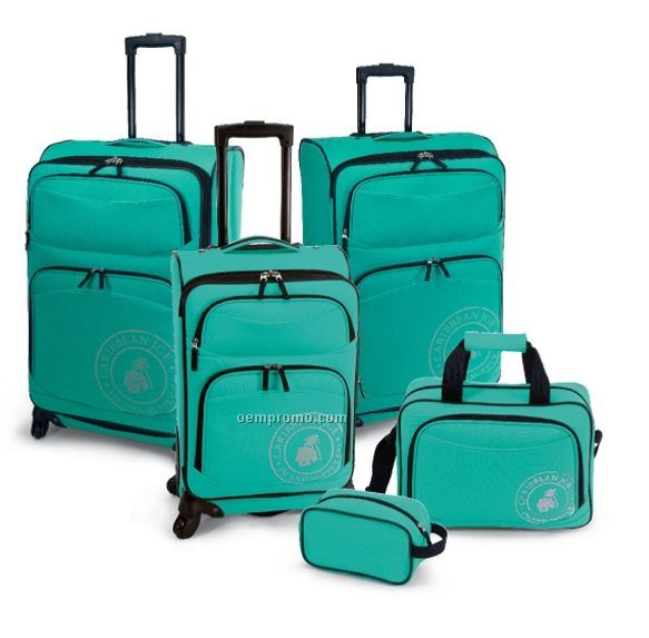 Caribbean Joe Coral Reef 5-piece Luggage Collection
