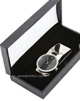 Crystal Watch Money Clip (Round Face)