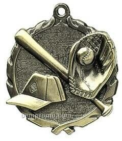 "Medal, ""Baseball"" - 1-3/4"" Wreath Edging"