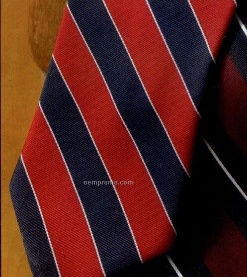 Men`s Repp Polyester Stripe Tie