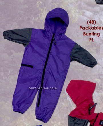 Purple Infant Packable Bunting (9/18m)