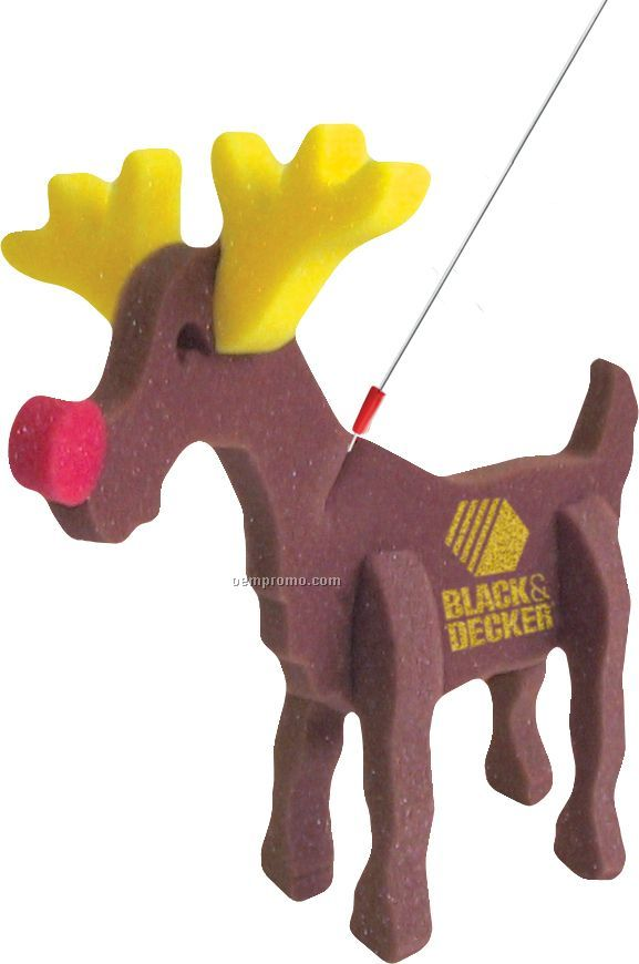 Reindeer On A Leash