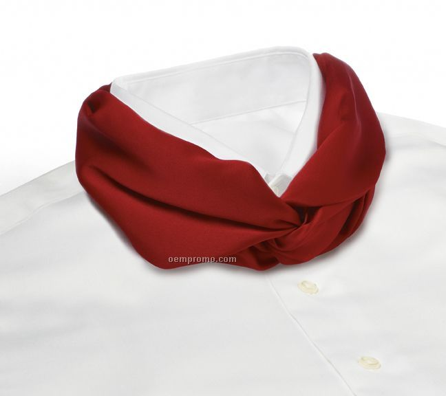 Wolfmark Solid Series Polyester Satin Velcro Band Knot Scarf - Red