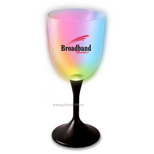 Black Stem Wine Glass With Your Choice Of Led Color China