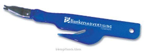 Erkie Push Staple Remover With Letter Opener & Ruler