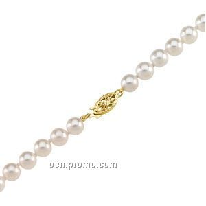 """Ladies' 6 To 6-1/2mm Cultured Pearl Strand Bracelet W/ 14ky Clasp 18"""""""