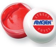 Neon Red Stress Putty In Clear Cosmetic Jar