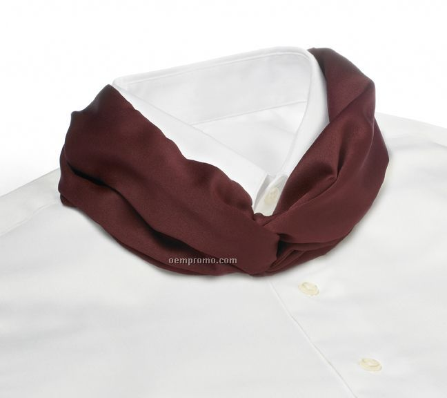 Wolfmark Solid Series Polyester Satin Velcro Band Knot Scarf - Maroon
