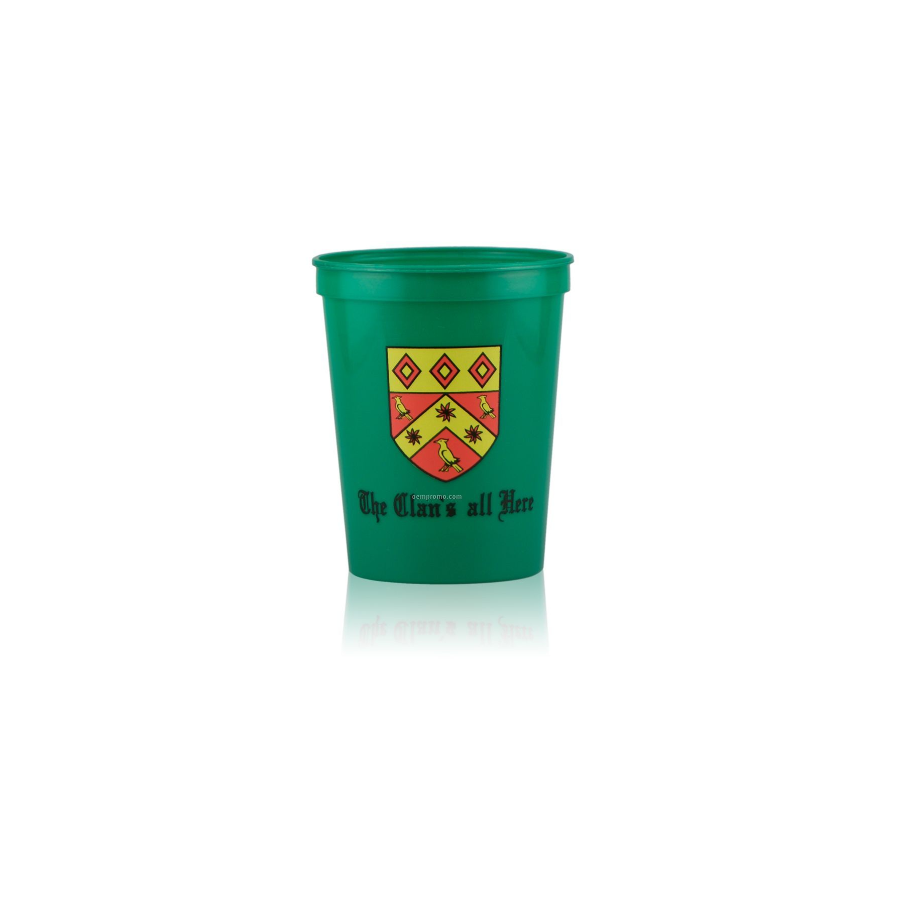 16 Oz. Stadium Cup Green