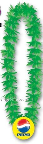 "44"" Lotus Leis W/ Custom Paper Medallion (4 Flower Colors)"