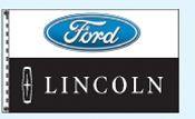 Checkers Single Face Dealer Logo Spacewalker Flag (Ford/Lincoln)