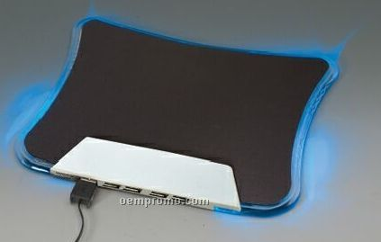 Multi-function Mouse Pad W/ Light Up Pad Borders