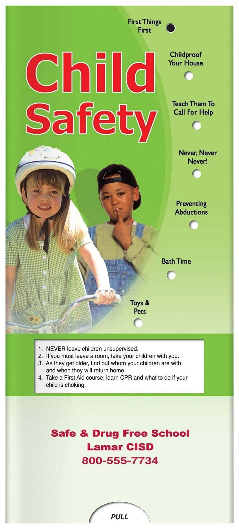 Pillowline Child Safety Pocket Slider Chart