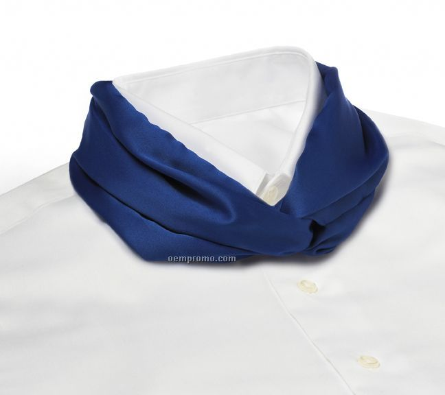 Wolfmark Solid Series Polyester Satin Velcro Band Knot Scarf - Royal Blue