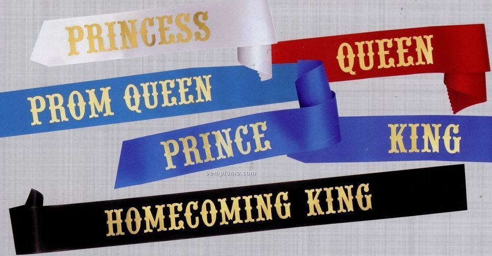 "3""X72"" Stock Title Sash - Homecoming Queen"