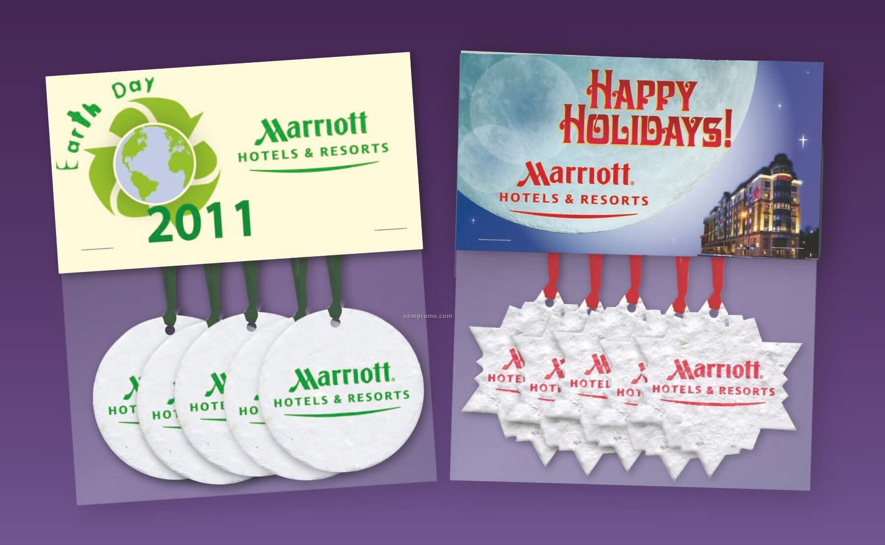 5 Piece Ornament Set With Header Card