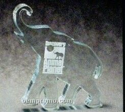 Acrylic Paperweight Up To 20 Square Inches / Elephant