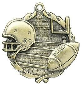 "Medal, ""Football"" - 1-3/4"" Wreath Edging"