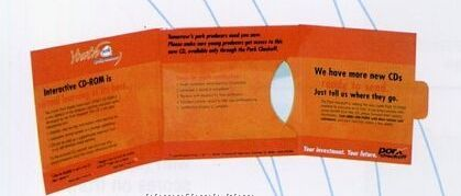Single CD / DVD Mailer W/ Reinforced Panel & Tuck Closure (4 Color Process)