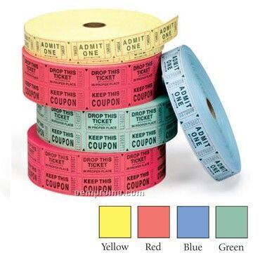 Single Roll Tickets - Stock Imprint