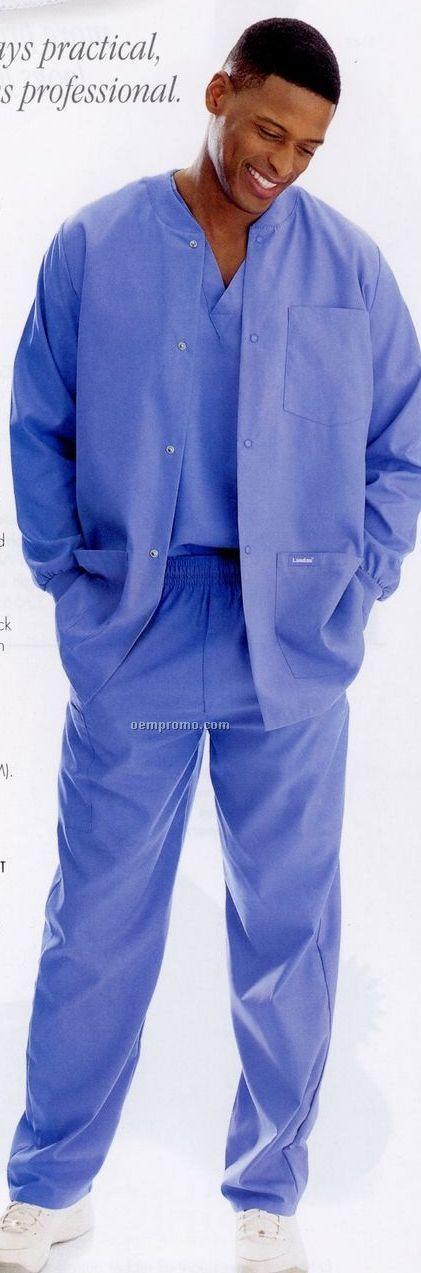Landau Men's Elastic Medical Drawcord Scrub Pants
