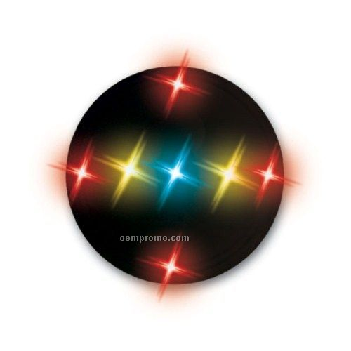 """Light Up Button W/ Magnetic Attachment (1"""")"""