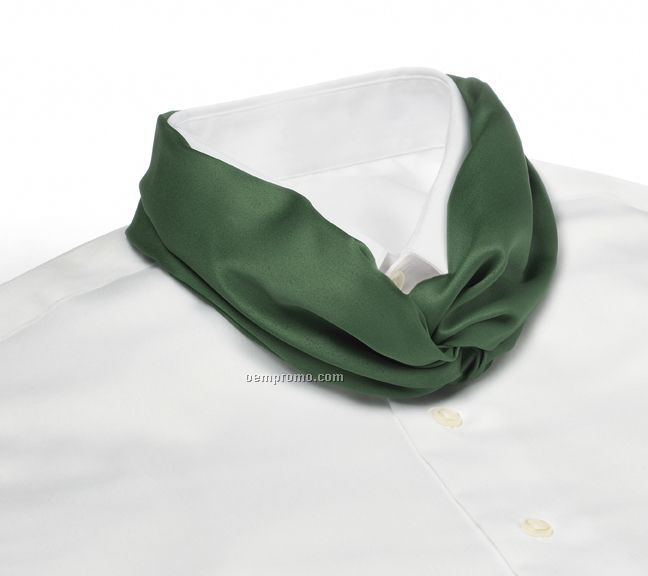 Wolfmark Solid Series Polyester Satin Velcro Band Knot Scarf - Kelly Green