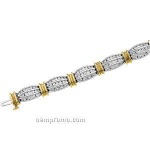Ladies' 14ktt 3 Ct Tw Diamond Round Bracelet