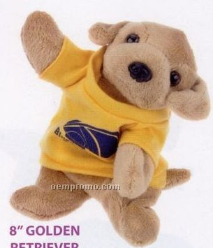 Laying Golden Retriever Beanie Stuffed Animal