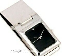 Money Clip W/ Rectangular Watch