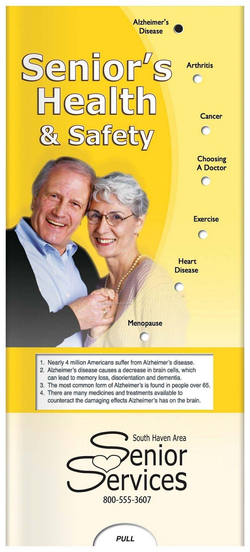 Pillowline Senior's Health & Safety Pocket Slider Chart