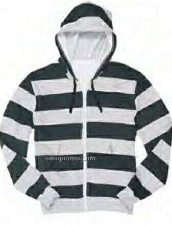 Adult Black/Heather Gray Rugby Hoodie