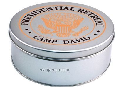 Empty Large Round Tin