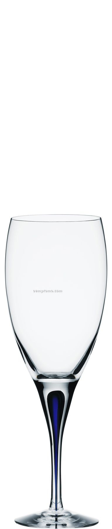 Intermezzo Blue Crystal White Wine Stemware W/ Blue Drop