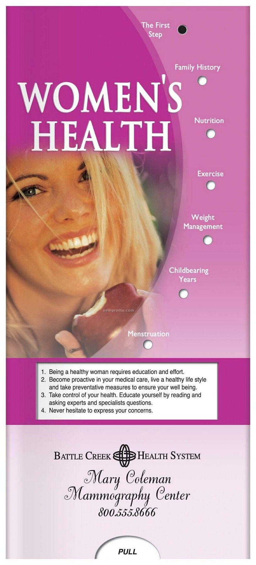 Pillowline Women's Health Pocket Slider Chart
